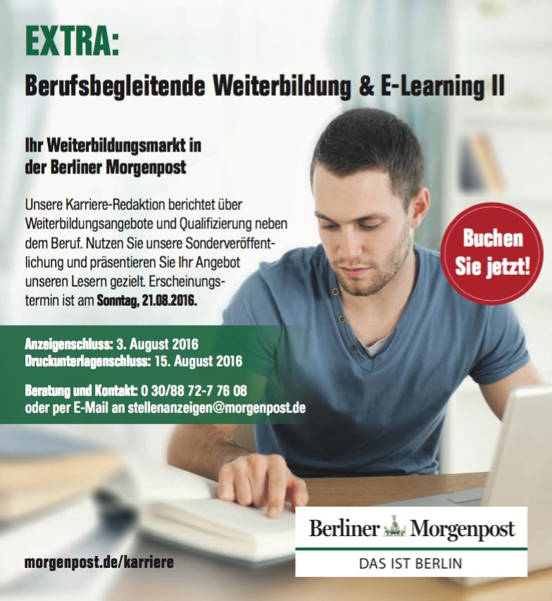 Anzeige Weiterbildung - Berliner Morgenpost
