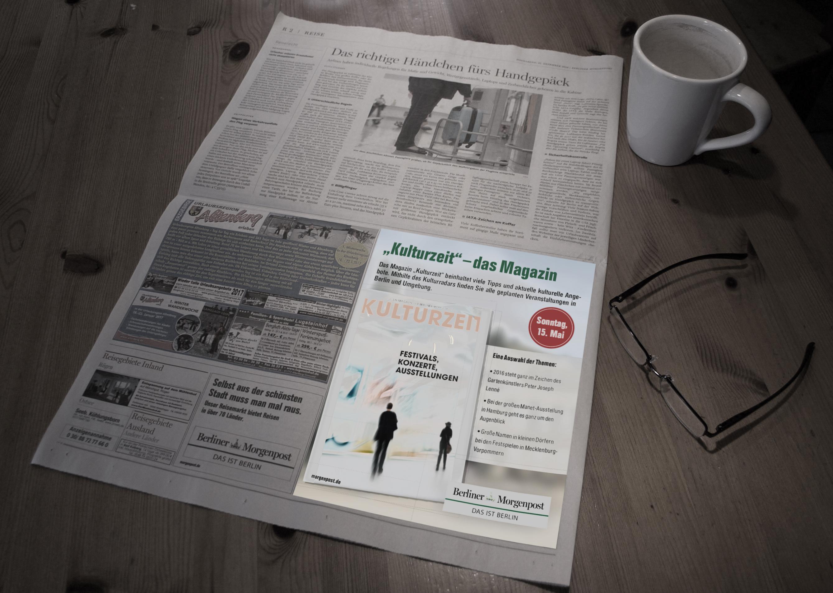 Anzeige Kulturzeit - Berliner Morgenpost